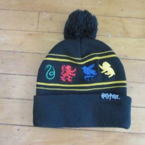 4e8952aa15d2d Accessories - Harry Potter Hogwarts Black Winter Beanie Cap Pom
